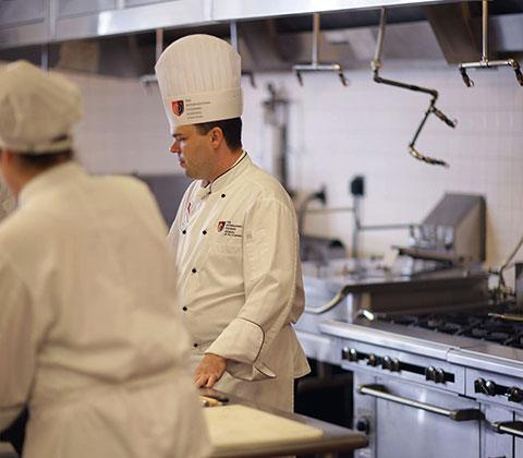 Culinary students work, learn, and collaborate in 10,000 square feet of kitchen space.