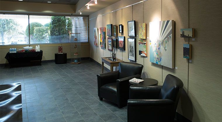 A view of the Gallery during the Art Educators Appreciation Show, March 2013.