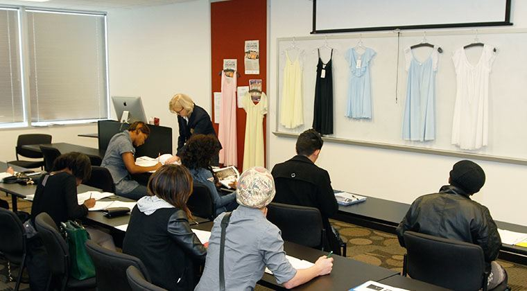 A fashion marketing class at The Art Institute of Houston.