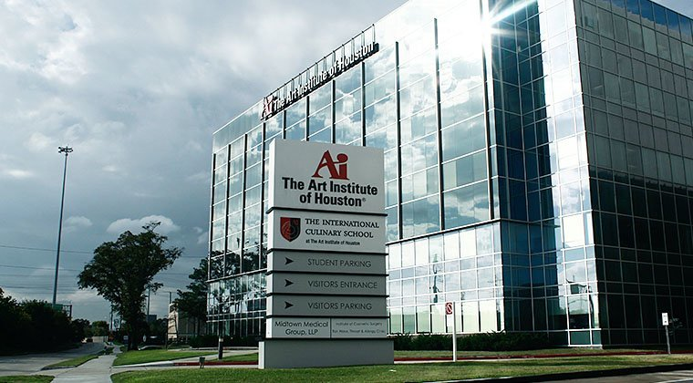 The Art Institute of Houston's facility, located near downtown.