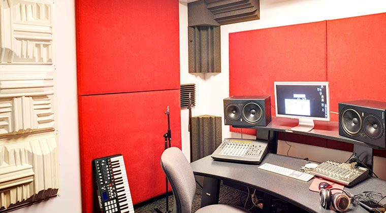 Our Digital Audio Workrooms provide a post-production environment for our students.