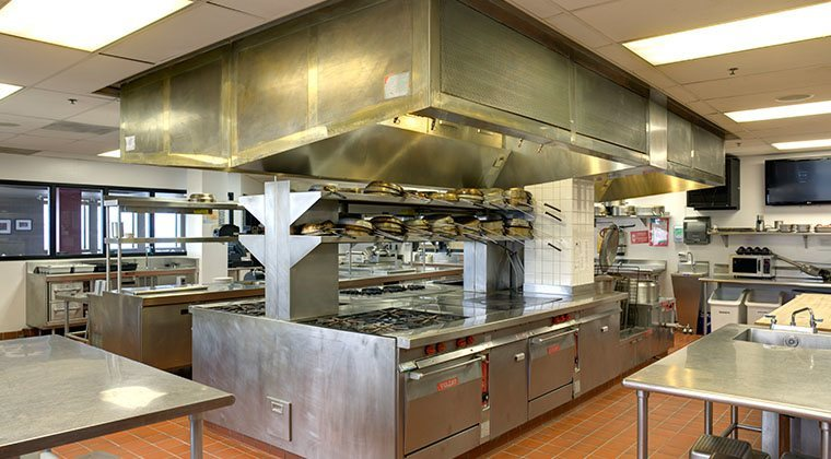 Three professional kitchens featuring industry-related equipment make up our culinary facilities.