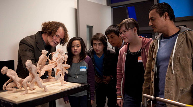 Animation students build models and study movement to help them design more realistic computer-generated creations.