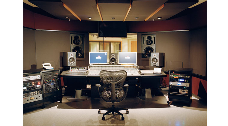 The console in Studio A was designed by the Walters-Storyk Group who also designed private studios for Jay-Z and Alicia Keys.