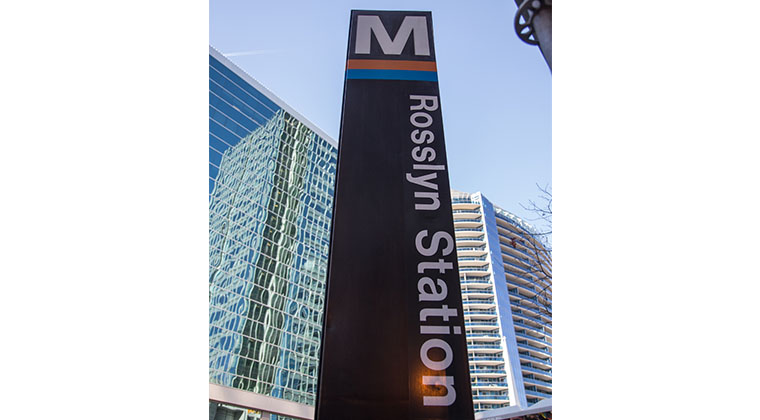 Our building is conveniently located across the street from the Rosslyn Metro Station.