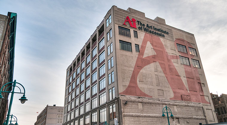 The Art Institute of Wisconsin is located in Milwaukee's Historic Third Ward neighborhood, an area known for its vibrant art scene.