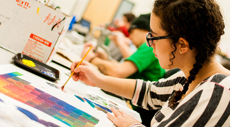 The Color Theory classes give design students of all departments a strong foundation for their future careers