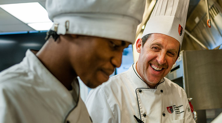 Our Culinary faculty members pass on their expertise and experiences to students