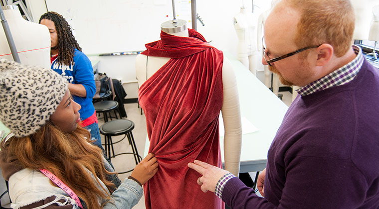 – Fashion design students get critiqued on their designs and take part in our Annual Fashion Show each March.